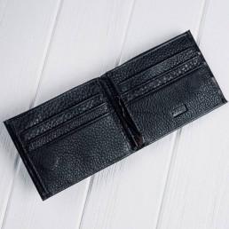 Кошелек мужской кожаный 555-7 черный