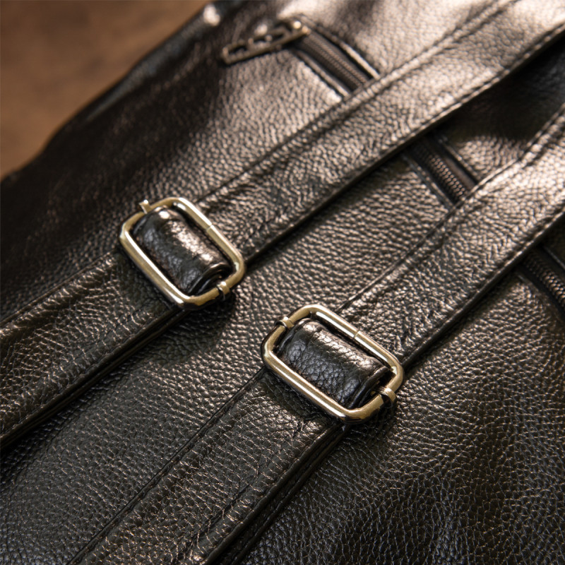 Рюкзак кожзам с тиснением Vintage 20517 Черный