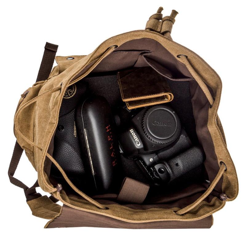 Рюкзак текстильный походный Vintage 20134 Коричневый