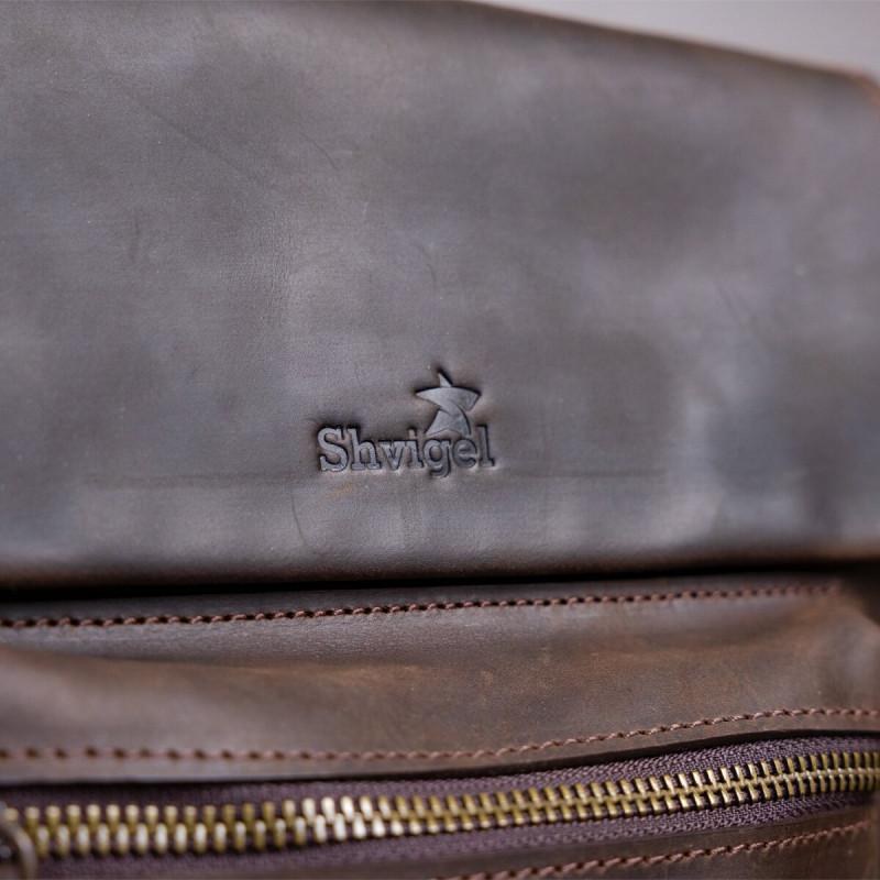 Сумка мужская SHVIGEL 11095 кожаная Коричневая