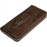 Мужской клатч Vintage 14462 кожа под крокодила Коричневый