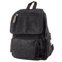 Компактный женский текстильный рюкзак Vintage 20194 Черный