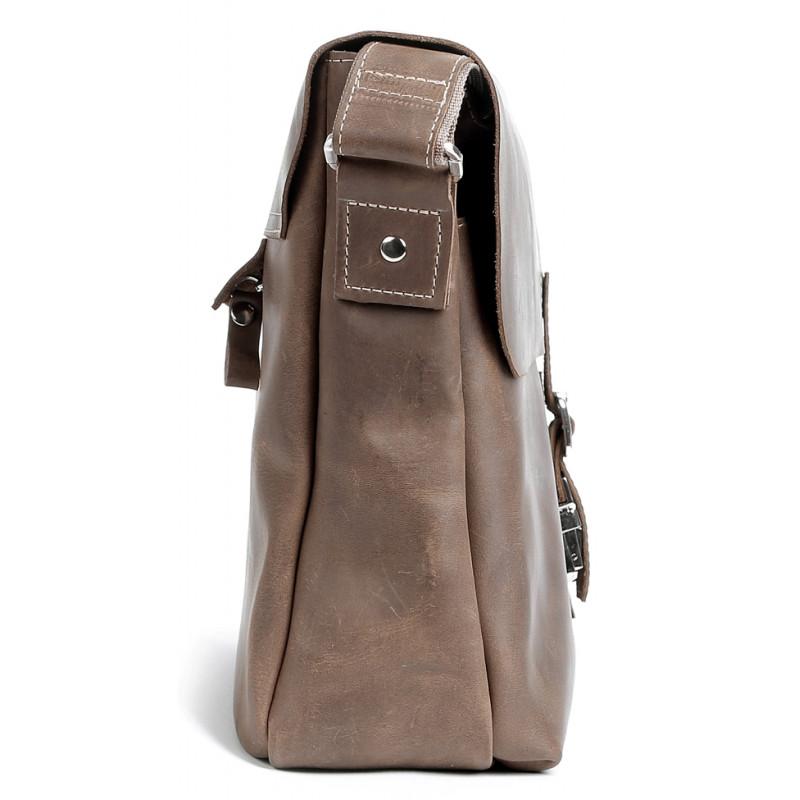 Сумка SHVIGEL 00980 из натуральной винтажной кожи Коричневая