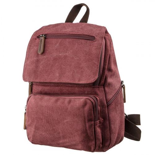 Компактный женский текстильный рюкзак Vintage 20195 Малиновый