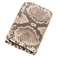 Вертикальный кошелек SNAKE LEATHER 18295 из натуральной кожи морского питона Серый
