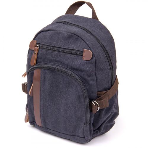 Рюкзак текстильный унисекс Vintage 20600 Черный