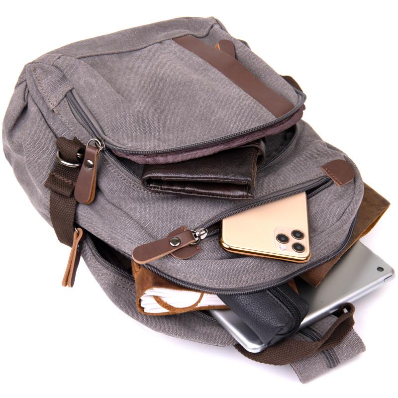 Рюкзак текстильный унисекс Vintage 20601 Серый