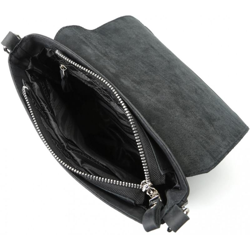 Сумка SHVIGEL 11017 из винтажной кожи Черная
