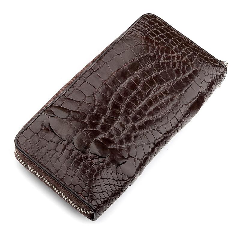 Клатч мужской CROCODILE LEATHER 18273 из натуральной кожи крокодила Коричневый