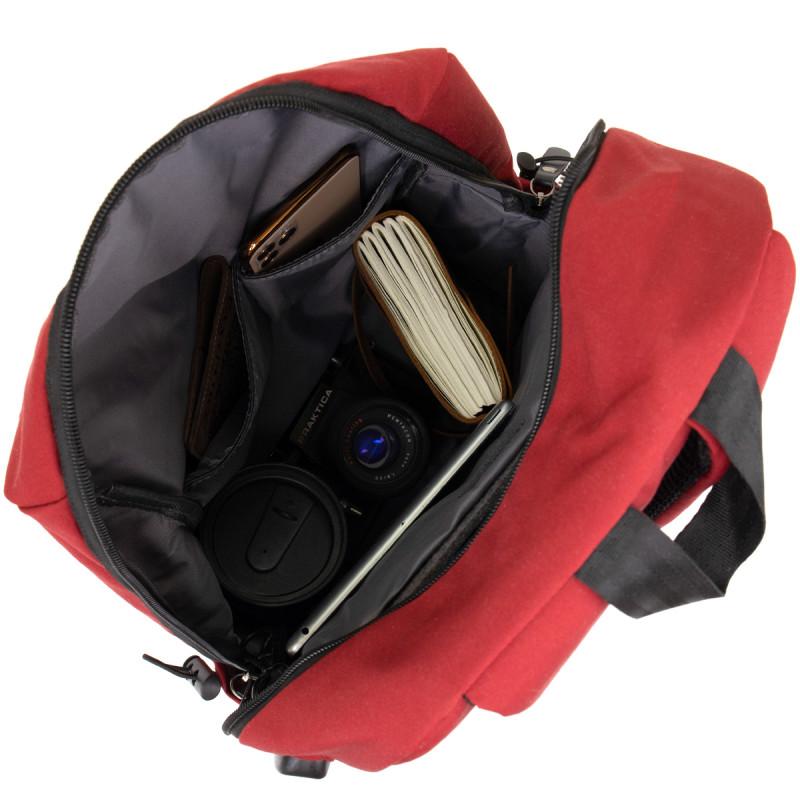 Рюкзак текстильный smart унисекс Vintage 20627 Малиновый