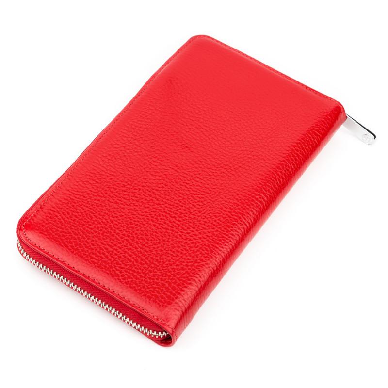Кошелек-клатч женский KARYA 17073 кожаный Красный
