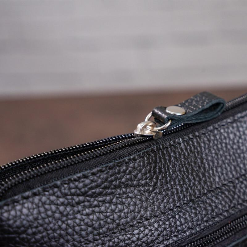 Сумка SHVIGEL 11025 кожаная Черная
