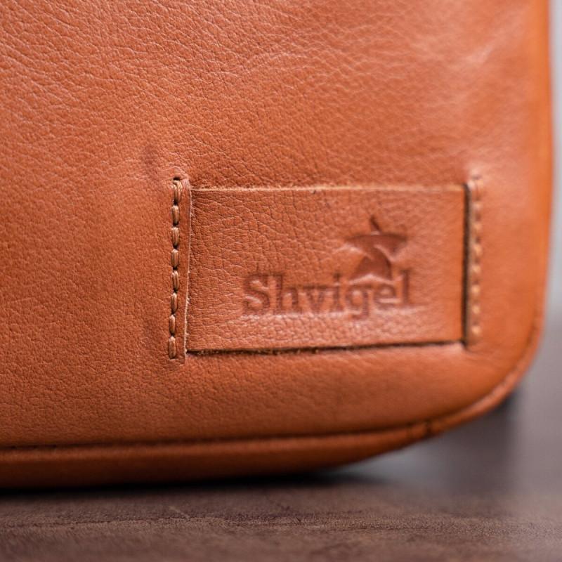 Мужская кожаная сумка SHVIGEL 19104 Рыжая