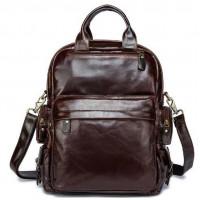 Рюкзак – трансформер кожаный Vintage 14889 Коричневый