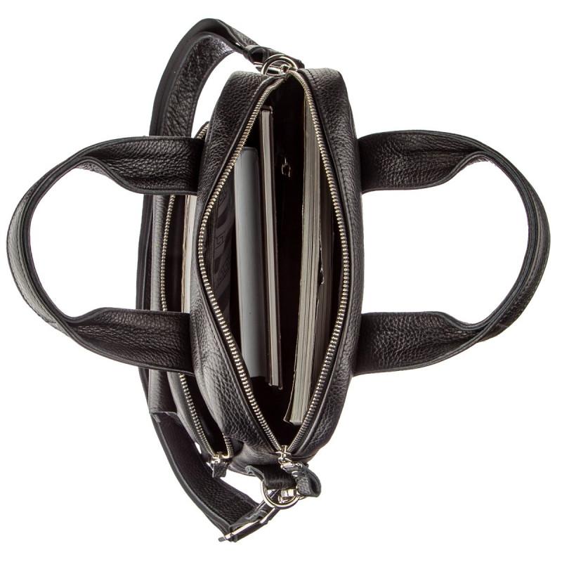 Мужская сумка вертикального формата SHVIGEL 11167 под А4 Черная флотар