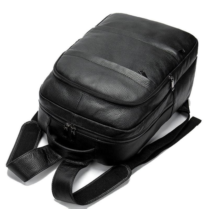 Рюкзак Vintage 14696 кожаный Черный