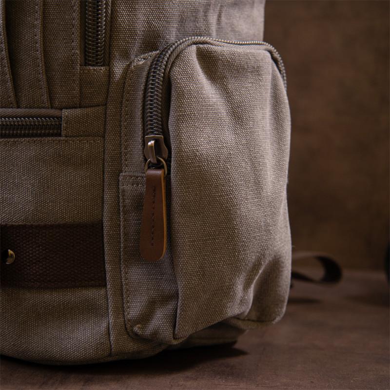 Рюкзак текстильный дорожный унисекс с ручками Vintage 20662 Серый
