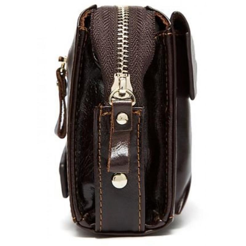 Кожаный клатч Vintage 14907 Коричневый