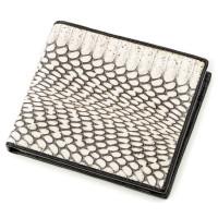 Бумажник мужской SEA SNAKE LEATHER 18552 из натуральной кожи кобры Серый
