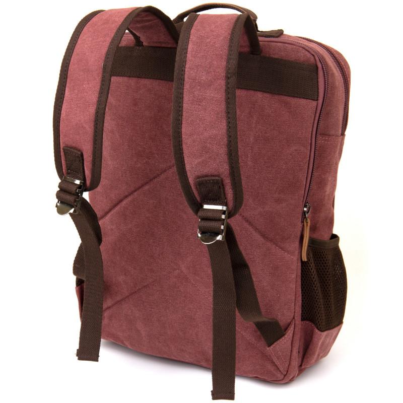 Рюкзак текстильный дорожный унисекс на два отделения Vintage 20615 Малиновый