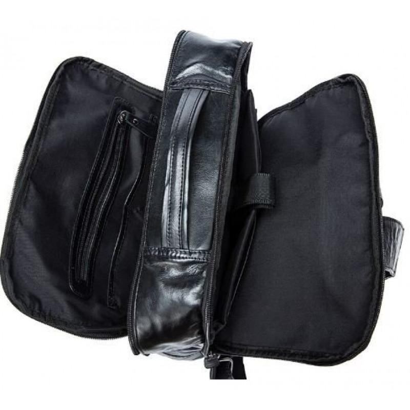 Рюкзак кожаный под ноутбук Vintage 14845 Черный