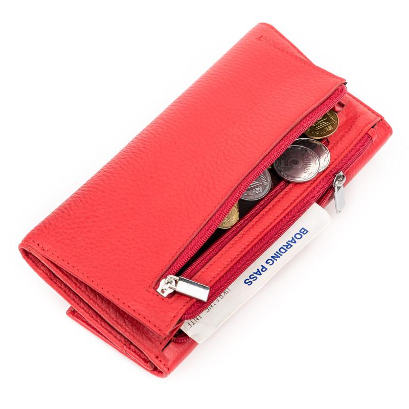 Кошелек женский KARYA 17161 кожаный Красный
