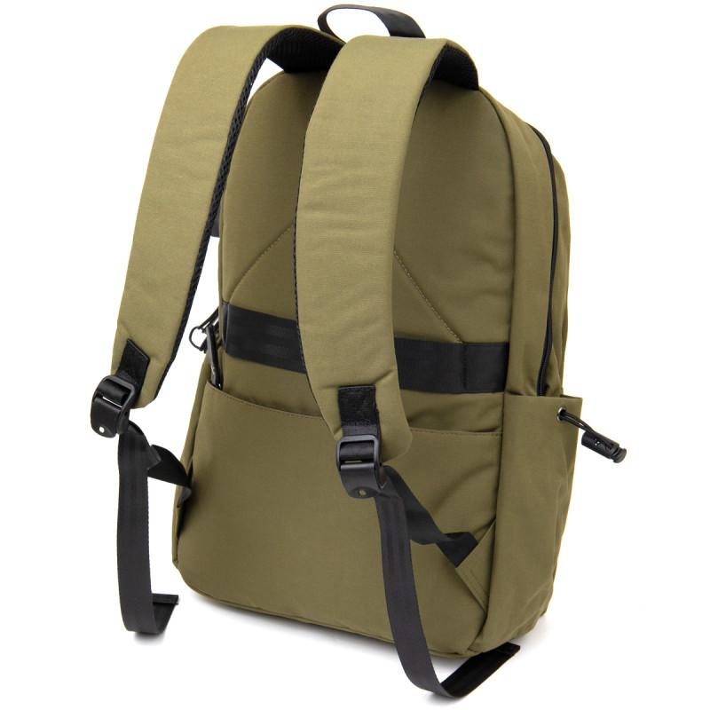 Рюкзак текстильный smart унисекс Vintage 20623 Оливковый