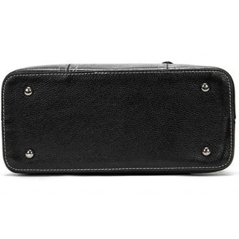 Классическая женская сумка в коже флотар Vintage 14861 Черная