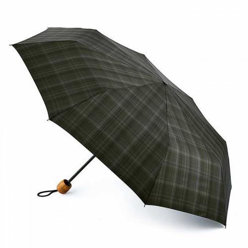 Зонт мужской Fulton G868 Hackney-2 Charcoal Check (Темно-серая клетка)