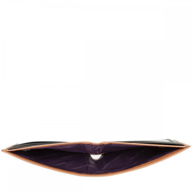 Кошелек мужской Smith & Canova 90015 Asquith (Black-Tan)