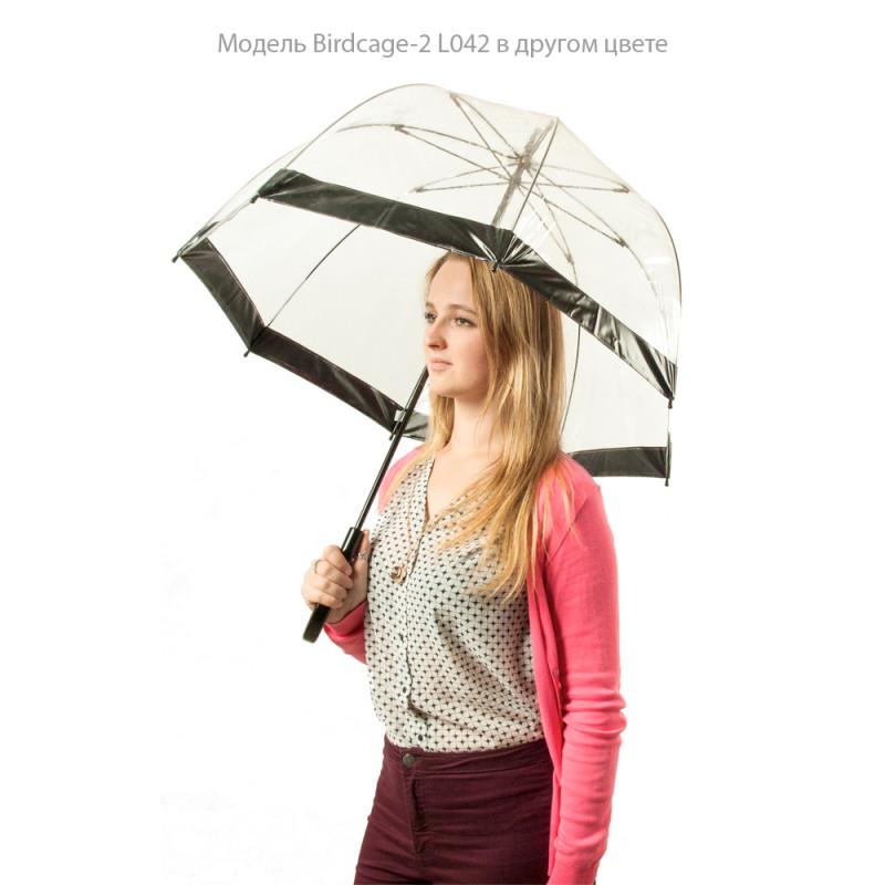 Зонт-трость женский Fulton Birdcage-2 L042 Pink Polka (Розовый горох)