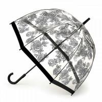 Зонт-трость женский Fulton Birdcage-2 L042 Black Rose (Черная роза)