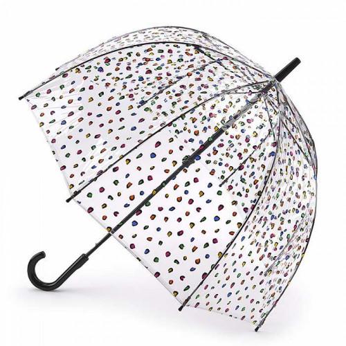 Зонт-трость женский Fulton Birdcage-2 L042 Candy Leopard (Конфетный леопард)