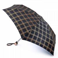 Мини зонт женский Fulton Tiny-2 L501 Golden Check (Золотая Клетка)