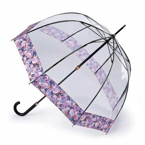 Зонт-трость женский Fulton L866 Birdcage-2 Luxe Digital Blossom (Цветок)