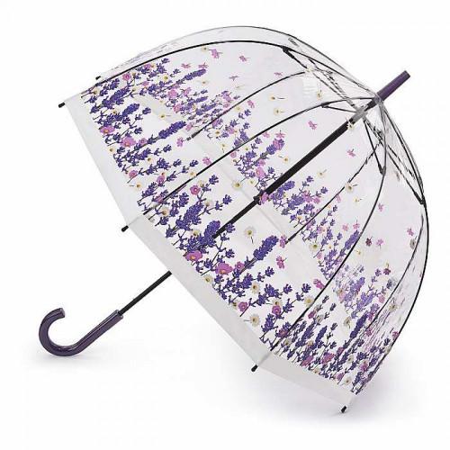 Зонт-трость женский Fulton L042 Birdcage-2 Flower Field (Цветочная поляна)
