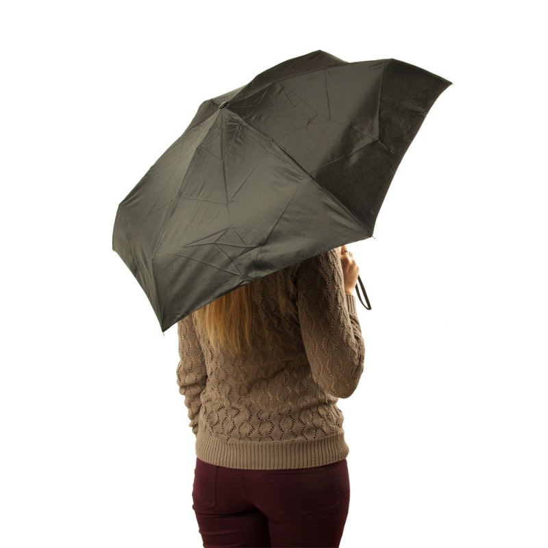 Мини зонт женский Fulton Tiny-1 L500 Black (Черный)